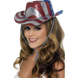 Chapeau USA paillettes
