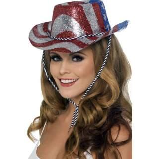 Chapeau USA paillettes