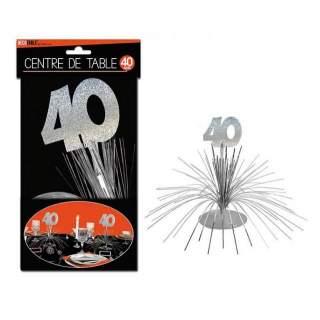 Centre de table anniversaire 40 ans
