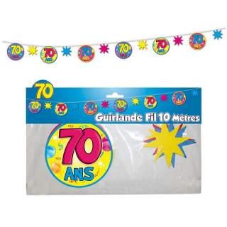 Guirlande fil 70 ans