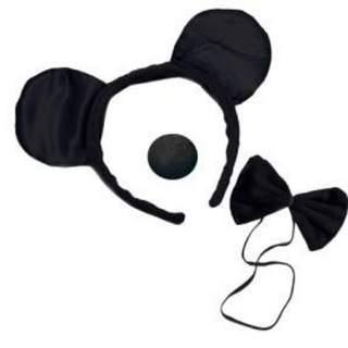 Set accessoires souris noire
