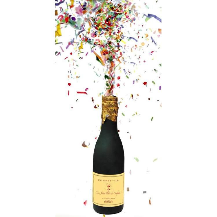 Bouteille champagne confettis m ga f te - Image cotillons fete ...
