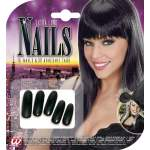 15 faux ongles noirs