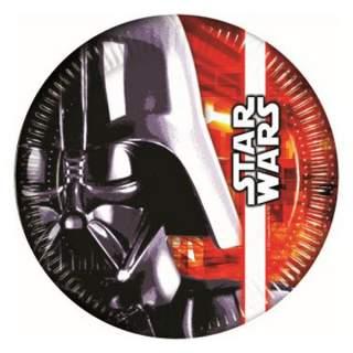 8 assiettes carton Star Wars
