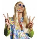 Perruque hippie avec tresses et perles
