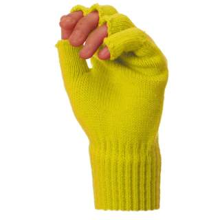 Mitaines tricot fluorescentes
