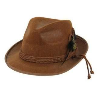Chapeau feutre Tyrol marron