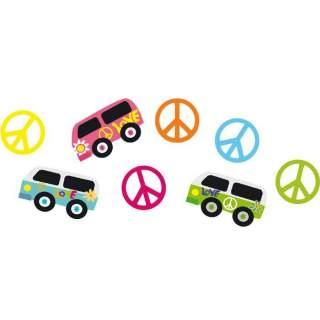 16 confettis de table hippie