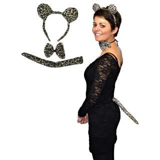 Set accessoires léopard