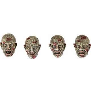 4 têtes de zombie résine
