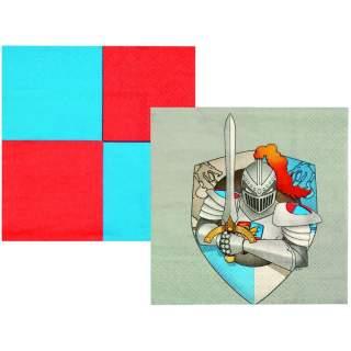 12 serviettes chevalier médiéval