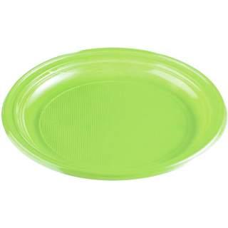 30 assiettes rondes couleur