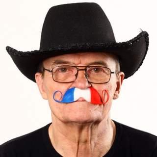 Moustache tricolore France