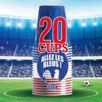 20 gobelets Original Cup tricolore