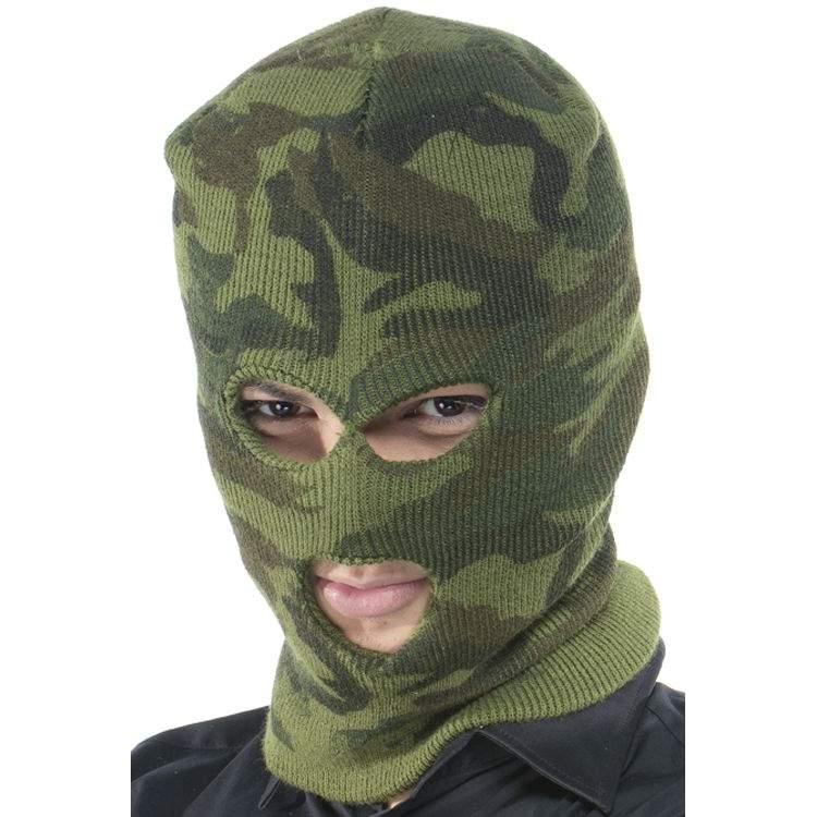 Cagoule camouflage militaire - Méga Fête