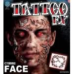 Tatouage visage cyborg