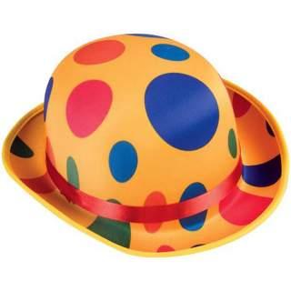 Chapeau melon de clown à pois