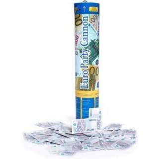 Canon à confettis billets euros