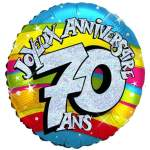 Ballon joyeux anniversaire 70 ans