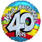 Ballon joyeux anniversaire 40 ans