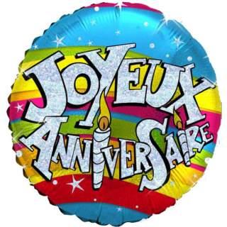 Ballon Joyeux Anniversaire Mega Fete