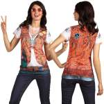 T-shirt photo réaliste hippie