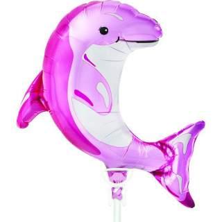 Ballon dauphin rose