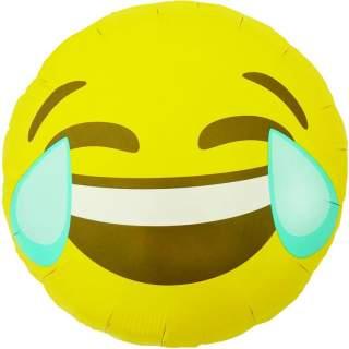 Ballon smiley pleure de rire