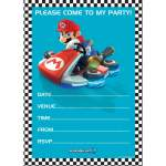 20 cartons d'invitation Mario Kart
