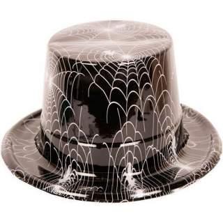 Haut de forme toile d'araignée noir