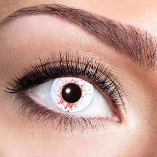 Lentilles oeil injecté de sang