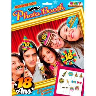 Set photo booth anniversaire 18 ans