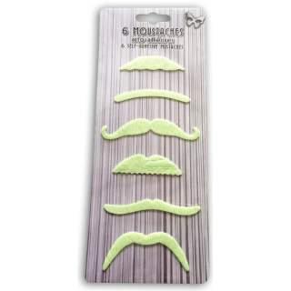 6 moustaches phosphorescentes
