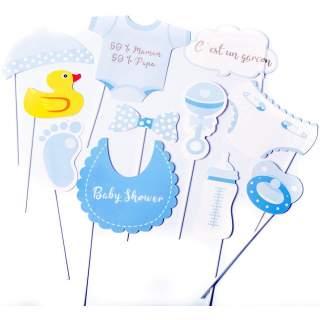 Kit photobooth baby shower garçon