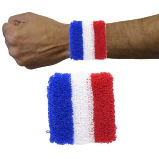 2 poignets tennis drapeau France