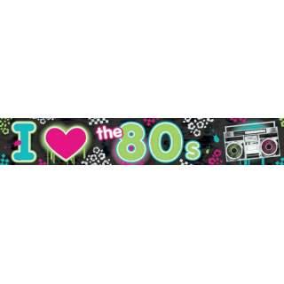 Banderole déco années 80