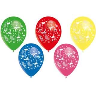 8 ballons thème tropical