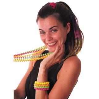 Bracelet perles fluorescentes