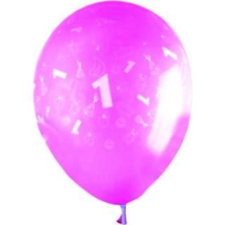 Sachet de 10 ballons chiffre 1