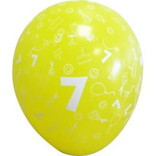 Sachet de 10 ballons chiffre 7