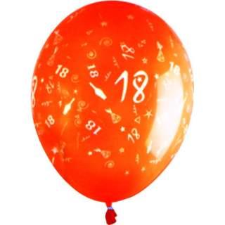 Sachet de 10 ballons chiffre 18