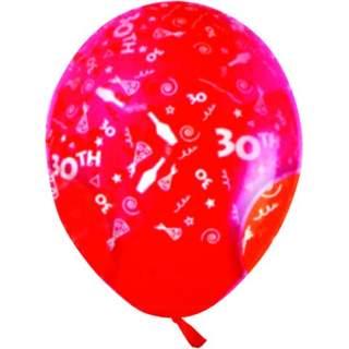 Sachet de 10 ballons chiffre 30