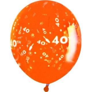 Sachet de 10 ballons chiffre 40