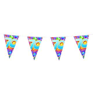 "Guirlande anniversaire chiffre ""70"""