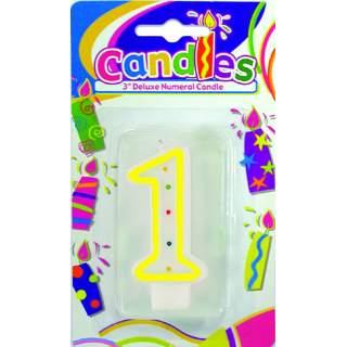 """Bougie anniversaire chiffre """"1"""""""