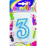 """Bougie anniversaire chiffre """"3"""""""