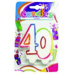 """Bougie anniversaire chiffre """"40"""""""