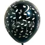Sachet de 10 ballons notes de musique