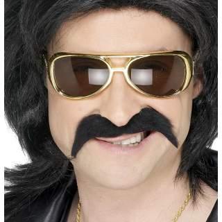 Moustache 60's noires