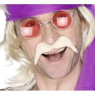 Moustache blonde auto adhésif